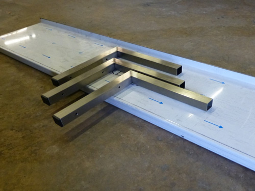 2000mm wall shelf with three pre drilled wall brackets